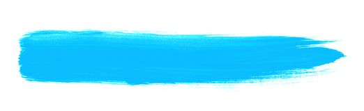 Light blue brush stripe. Dirty painted brush stripe with blue color royalty free stock image