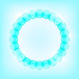 Light Blue Bubble in Round Frame Stock Image