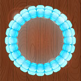 Light Blue Bubble in Round Frame Stock Photos