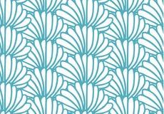 Light blue bushes seamless endless pattern stock illustration