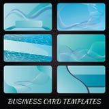 Light blue calling card. Illustration of a light blue pattern calling card Stock Photos