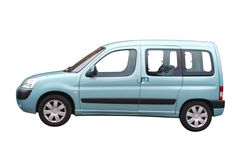 Light blue car Stock Image