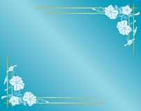 Light blue card with flowers and gradient - eps Stock Photos