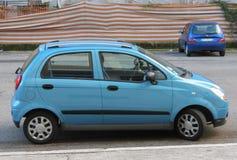 Light blue Chevrolez Matiz car Stock Photos
