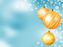 Light blue Christmas backdrop with balls. EPS 8 Stock Photography