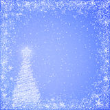 Light blue christmas background Royalty Free Stock Photo