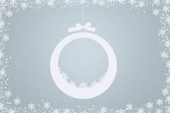 Light blue christmas background Stock Photography