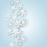 Light blue Christmas background with winter Stock Image