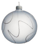 Light blue Christmas ball Stock Photos