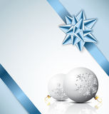 Light blue Christmas card Stock Photo