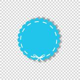 Light blue circle seal stamp wrapped with white cord Royalty Free Stock Image