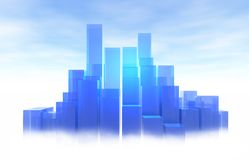 Light-Blue City Royalty Free Stock Images