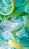 Light blue cocktail macro Stock Photo