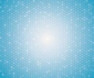 Light blue color geometric hexagon seamless pattern. Royalty Free Stock Images