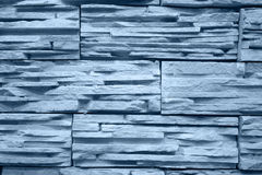 Light blue colored brick wall Royalty Free Stock Photos