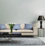Light blue contemporary modern sofa Royalty Free Stock Photography