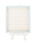 Light blue country rustic style wood frame with canvas on white Royalty Free Stock Photos