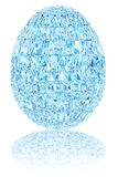Light blue crystal easter egg on glossy white Royalty Free Stock Photography