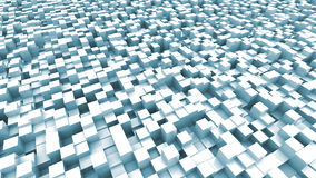 Light blue cubes background. Abstract 3d illustration of blue cubes background Royalty Free Stock Images
