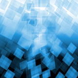 Light Blue Cubes Background Shows Pixeled Stock Photography