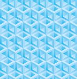 Light blue cubes isometric seamless pattern. Vector geometric tileable background stock illustration