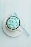 Light blue cupcake Stock Photography