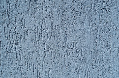 Light blue decorative relief plaster on wall. Closeup stock images