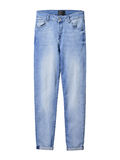 Light blue denim jeans isolated on white Stock Photography