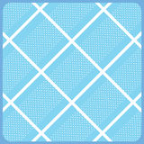 PRINT diagonal cross stripes. White diagonal crossing stripes pattern and circle dot stripes in frame on light blue background. Holiday background. Digital vector illustration