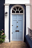 Light blue door Royalty Free Stock Photography