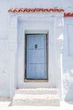Light Blue Door in Chefchouaen, Morocco Stock Photography