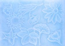 Pastel draw representing flowers royalty free stock images