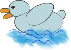 The light-blue duck Royalty Free Stock Photography