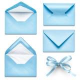 Light blue envelopes Stock Photos