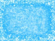 Light blue fantasy Christmas background Royalty Free Stock Photo