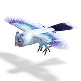 Light blue fantasy owl Royalty Free Stock Photo
