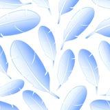Light blue feathers symbols seamless pattern Royalty Free Stock Photo