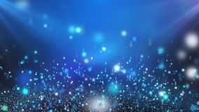 Light Blue Floating Shining Stars Looping Motion Background