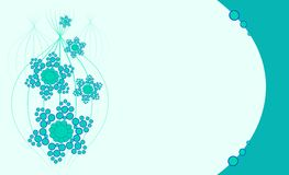 Light blue floral background Royalty Free Stock Photo