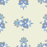 Light Blue Floral Ornamental Seamless Pattern Royalty Free Stock Photography