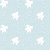 Light blue floral pattern Royalty Free Stock Images