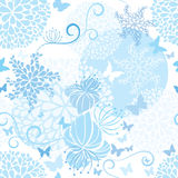 Light Blue floral seamless pattern Royalty Free Stock Image
