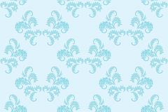 Light blue floral seamless background - vector Royalty Free Stock Photography