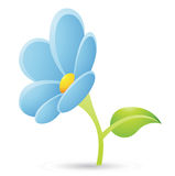 Light Blue Flower Icon Stock Photography