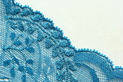 Light blue flowers lace material texture macro shot Stock Photos