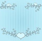 Light blue folk background Stock Photos