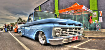 Light blue Ford pick up truck Stock Photography