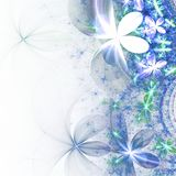 Light blue fractal flowers. Digital artwork for creative graphic design Stock Photo