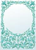 Light blue frame decoration Stock Photo