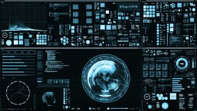 Light blue futuristic interface/Digital screen